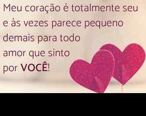 Imagen de corazones románticos con frases para FB.