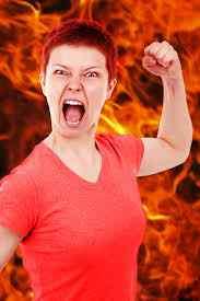 foto de perfil de niña enojada