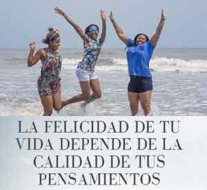Hermosa foto de chicas con frases felices descarga para FB