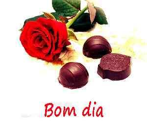 Bom dia romântico com fotos de chocolate