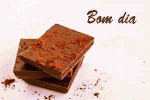 bom dia bonito com imagem de chocolate