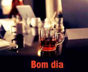 chá preto com bom dia download de imagem