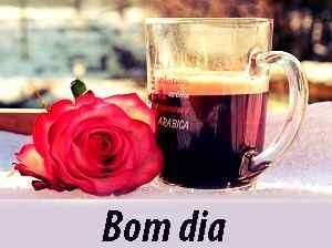 foto romântica com bom dia chá para Whatsapp