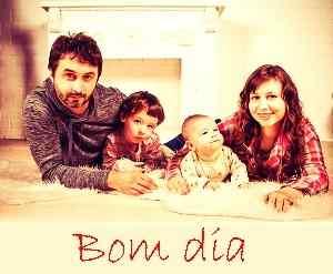 foto superior de bom dia com a família