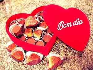 imagem legal de bom dia com chocolate