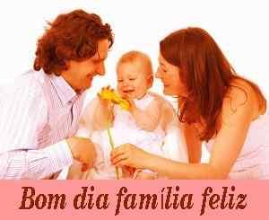 sorrir foto de bom dia com a família