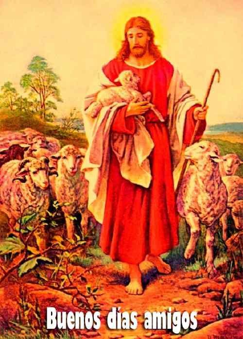 hermosa foto de jesús con buenos días para fb