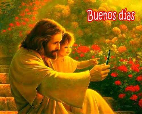 hermosa imagen de jesús con buenos días para fb