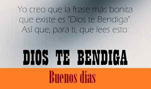 Dios te bendiga imagen con buenos días para amigos